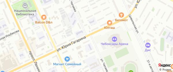 Улица Чапаева на карте Чебоксар с номерами домов