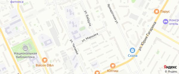 Улица Маршака на карте Чебоксар с номерами домов
