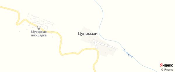 Улица Цунимахинский на карте хутора Цунимахи с номерами домов