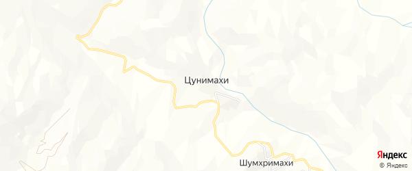 Карта хутора Цунимахи в Дагестане с улицами и номерами домов