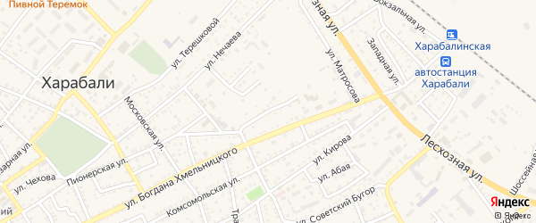 Переулок 2-й Б.Хмельницкого на карте Харабали с номерами домов