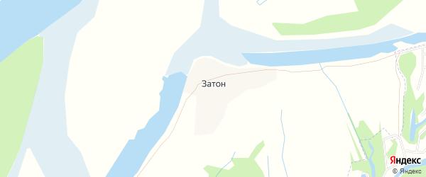 Карта деревни Затона в Архангельской области с улицами и номерами домов