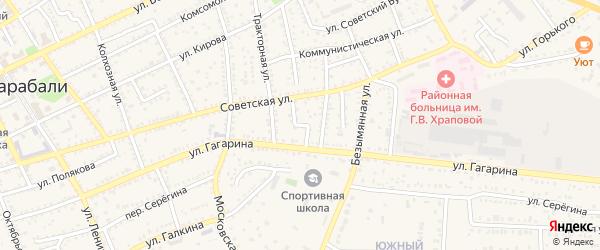 Тракторный переулок на карте Харабали с номерами домов