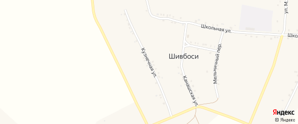 Кузнечная улица на карте деревни Шивбосей с номерами домов