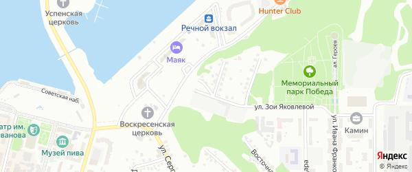 Улица Халтурина на карте Чебоксар с номерами домов
