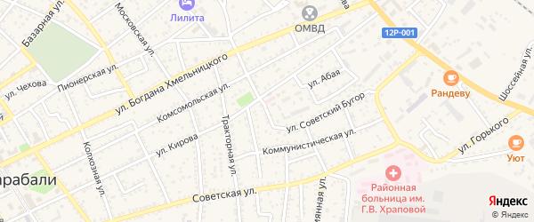 Братский переулок на карте Харабали с номерами домов