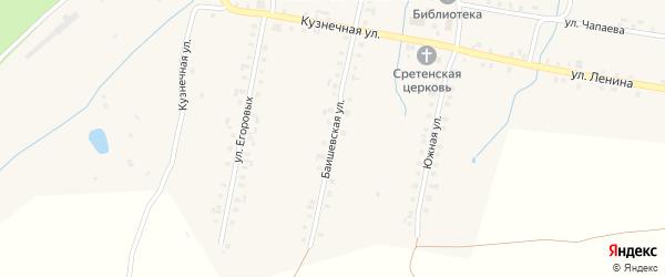 Баишевская улица на карте села Балабаш-Баишево с номерами домов