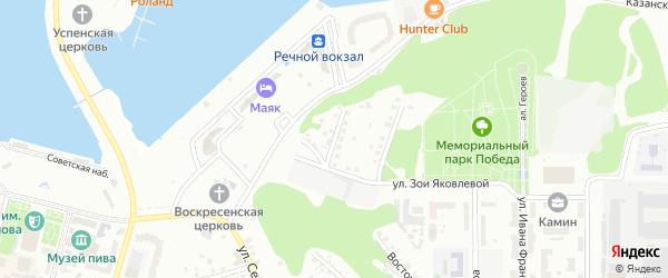 Кувшинский переулок на карте Чебоксар с номерами домов