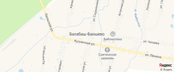 Улица Чапаева на карте села Балабаш-Баишево с номерами домов