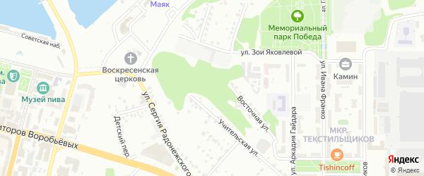Улица Слесарный овраг на карте Чебоксар с номерами домов