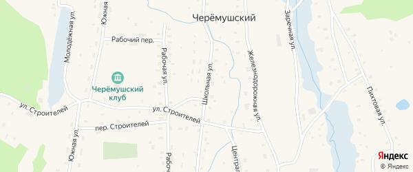 Школьная улица на карте Черемушского поселка с номерами домов