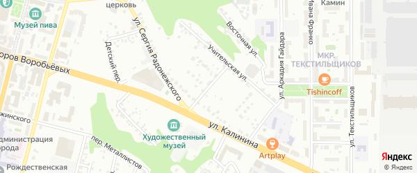 Учительский переулок на карте Чебоксар с номерами домов