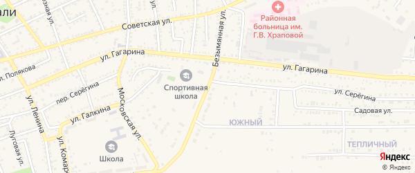 Безымянная улица на карте Харабали с номерами домов