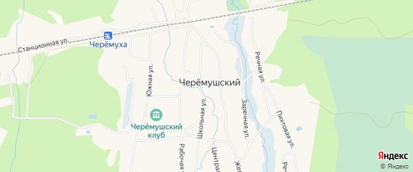 Карта Черемушского поселка в Архангельской области с улицами и номерами домов