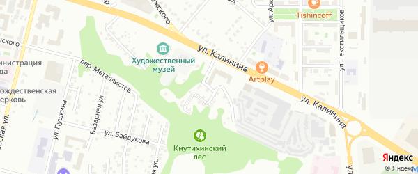 Чебоксарская улица на карте Чебоксар с номерами домов