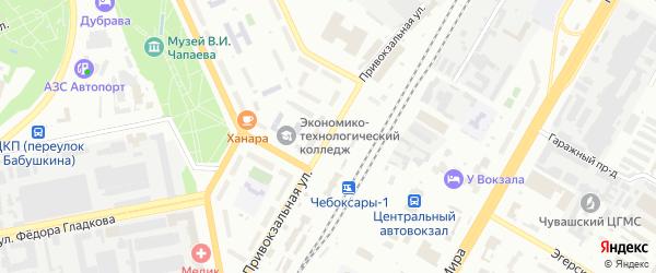 Привокзальная улица на карте Чебоксар с номерами домов