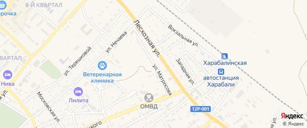 Улица Матросова на карте Харабали с номерами домов