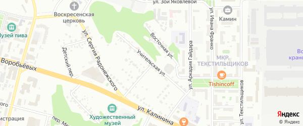 Учительская улица на карте Чебоксар с номерами домов