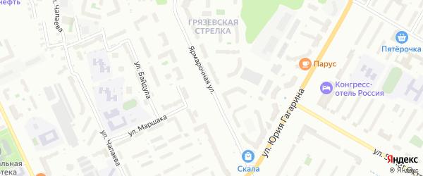 Ярмарочная улица на карте Чебоксар с номерами домов