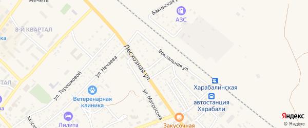 1-й Лесхозный переулок на карте Харабали с номерами домов