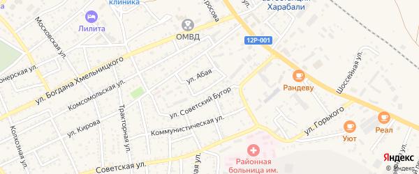 Трудовая улица на карте Харабали с номерами домов