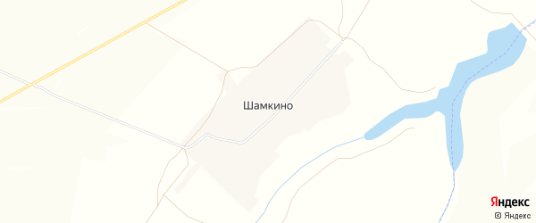 Карта села Шамкино в Чувашии с улицами и номерами домов