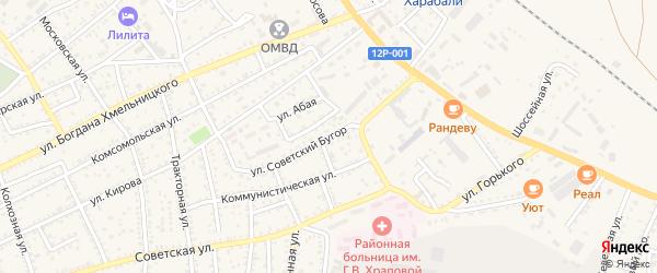 Улица Советский бугор на карте Харабали с номерами домов
