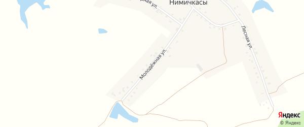 Молодежная улица на карте деревни Нимичкасы с номерами домов