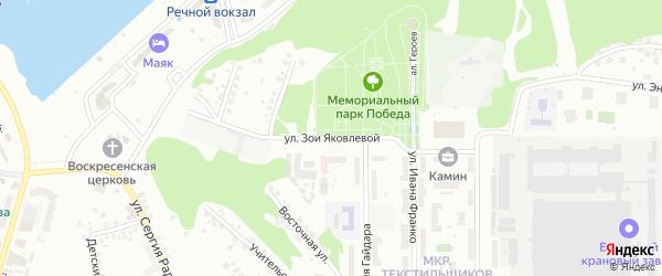 Улица Зои Яковлевой на карте Чебоксар с номерами домов