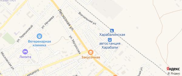Вокзальный переулок на карте Харабали с номерами домов
