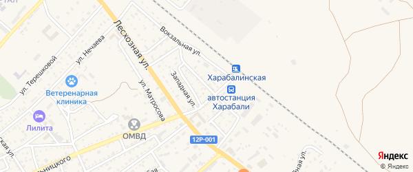 Линейная улица на карте Харабали с номерами домов