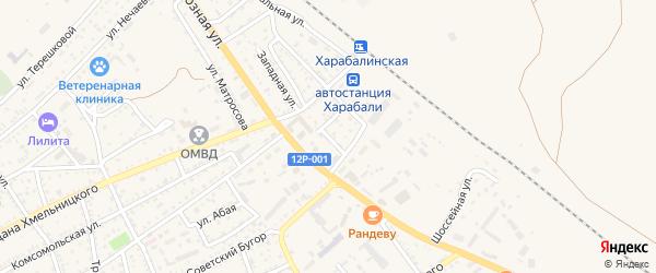1-я Базовская улица на карте Харабали с номерами домов