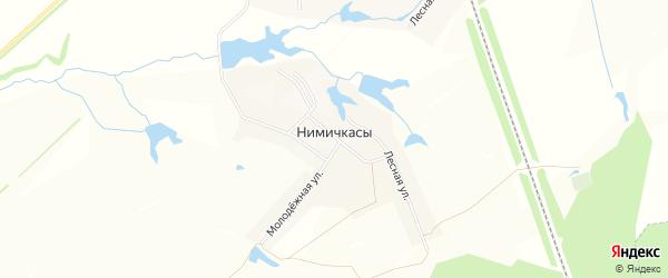 Карта деревни Нимичкасы в Чувашии с улицами и номерами домов
