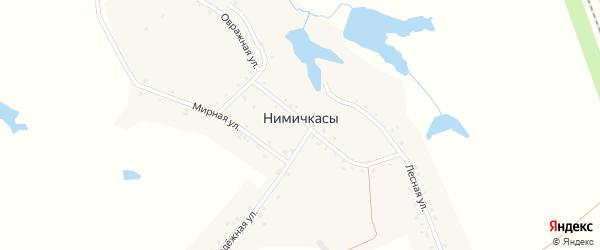 Овражная улица на карте деревни Нимичкасы с номерами домов
