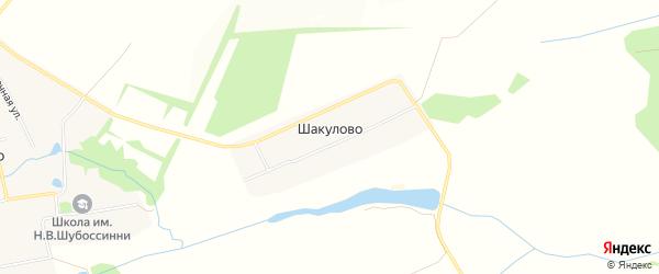 Карта деревни Шакулово в Чувашии с улицами и номерами домов