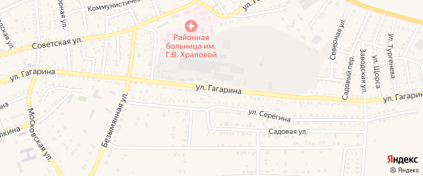 Улица Гагарина на карте Харабали с номерами домов