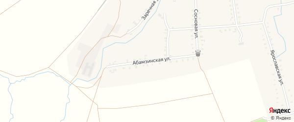 Абамзинская улица на карте деревни Сигачи с номерами домов