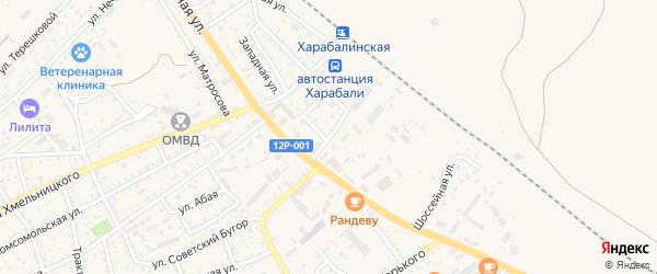 2-я Базовская улица на карте Харабали с номерами домов