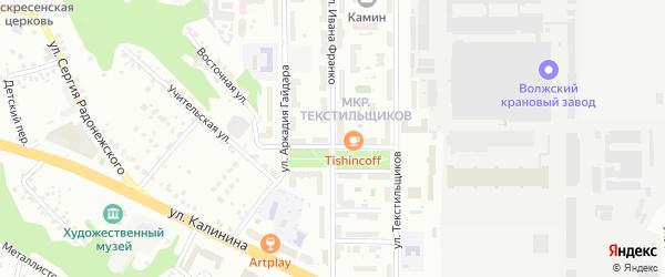 Улица Ивана Франко на карте Чебоксар с номерами домов