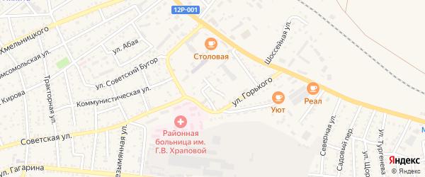 Школьный переулок на карте Харабали с номерами домов