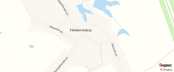 Гражданская улица на карте деревни Нимичкасы с номерами домов