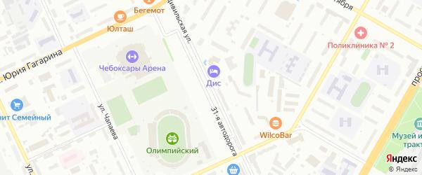 Цивильская улица на карте Чебоксар с номерами домов