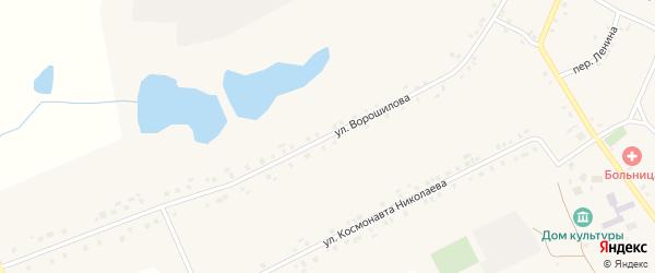 Улица Ворошилова на карте села Новое Чурашево с номерами домов