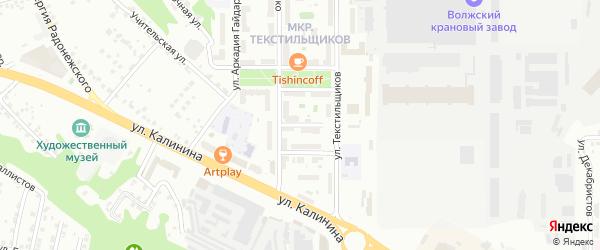 Комбинатский переулок на карте Чебоксар с номерами домов