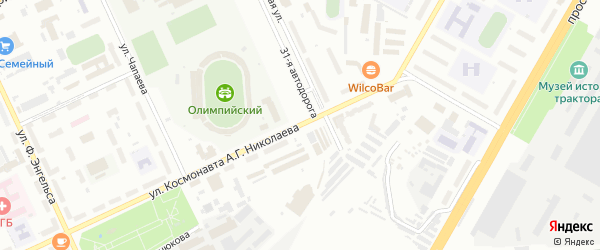Улица Космонавта Николаева А.Г. на карте Чебоксар с номерами домов