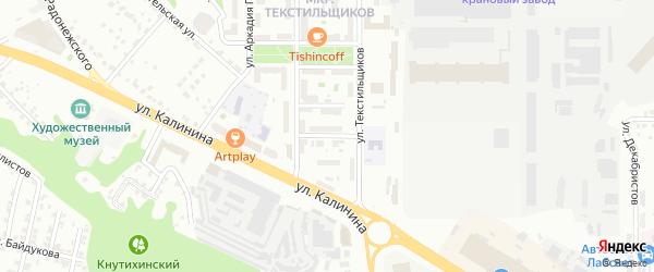 Комбинатская улица на карте Чебоксар с номерами домов