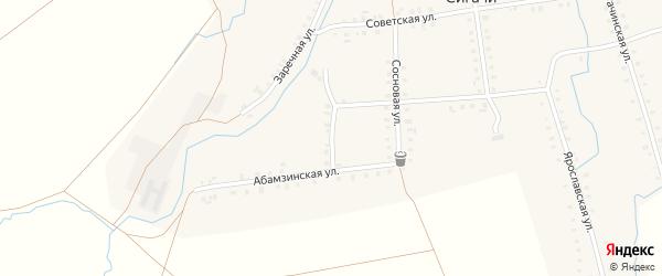 Парниковая улица на карте деревни Сигачи с номерами домов
