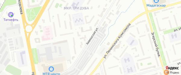 Хевешская улица на карте Чебоксар с номерами домов
