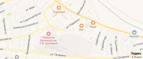 Мелиоративная улица на карте Харабали с номерами домов