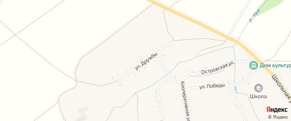 Улица Дружбы на карте деревни Сигачи с номерами домов